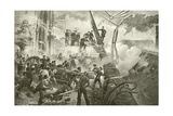 Farragut at Mobile Bay Giclee Print by William Heysham Overend