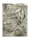 Ferdinand and Ariel Giclee Print by George Woolliscroft Rhead