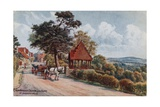 Crowborough Beacon from Frant, Tunbridge Wells Giclee Print by Alfred Robert Quinton
