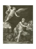 St Jerome with the Angel Giclée-tryk af Domenichino