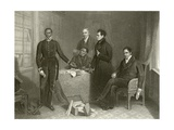 Jan Tzatzoe, Andries Stoffles, Rev Dr Philip and Rev Mess Read, Senior and Junior Giclee Print by Henry Room