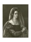 Giulia Gonzaga Giclée-tryk af Sebastiano del Piombo