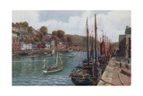 The Quay, Looe Giclee Print by Alfred Robert Quinton