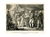 Lord Cornwallis Receiving the Sons of Tippoo Sultan as Hostages Giclee Print by Mather Brown