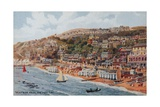Ventnor from the Pier, Isle of Wight Giclee Print by Alfred Robert Quinton