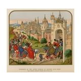 Entrance of the Queen Isabeau of Bavaria into Paris Giclée-Druck