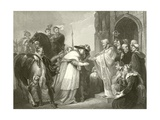 Cardinal Wolsey at Leicester Abbey Giclee Print by Richard Westall