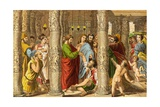 Peter and John Healing the Impotent Man Giclee Print by  Raphael