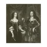 Ferdinand of Medicis and His Consort Giclée-Druck von Diego Rodriguez de Silva y Velazquez