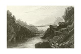 Grass Rope Bridge at Teree, Gurwall Giclee Print by David Cox