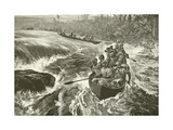 Stanley Shooting the Rapids of the Congo Giclee Print by William Heysham Overend