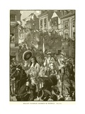 William's Triumphant Procession to Whitehall Giclee Print