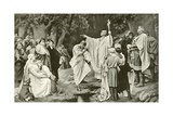 Charlemagne at Witikind's Baptism Giclee Print by Paul Thumann