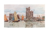 Entrance to the Harbor, La Rochelle Giclee Print by Herbert Menzies Marshall