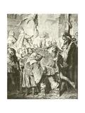 Henry V Rejects Falstaff Giclee Print by Eduard Grutzner