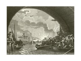 The Great Fire of London Giclee Print by Philip James De Loutherbourg