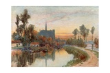Evening on the Somme at Amiens Giclee Print by Herbert Menzies Marshall
