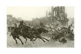 Rome under Trajan - a Chariot Race Giclee Print by Ulpiano Checa Y Sanz
