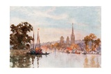 Rouen from the River Giclee Print by Herbert Menzies Marshall
