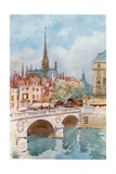 Pont St Michel and Ste Chapelle, Paris Giclee Print by Herbert Menzies Marshall