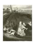 Queen Henrietta Giclee Print by Hippolyte Delaroche