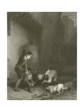 The Rat Hunters Giclee Print by Sir David Wilkie