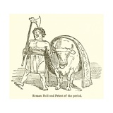 Roman Bull and Priest of the Period Giclee Print by John Leech