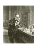 Dr Louis Pasteur in His Laboratory Giclee Print by Albert Edelfelt
