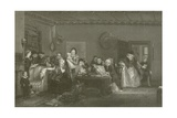 Reading the Will Giclee Print by Sir David Wilkie