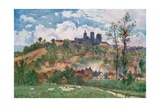 Laon, View from the Plain Giclee Print by Herbert Menzies Marshall