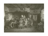 The Card Players Giclee Print by Sir David Wilkie