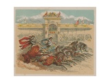 Illustration Depicting Two Chariots Giclee Print