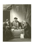 Henry VII with Empson and Dudley Giclee Print by Robert Smirke