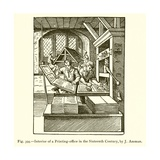 Interior of a Printing-Office in the Sixteenth Century Giclee Print