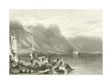 Castle of Chillon, Lake of Geneva, Switzerland Giclee Print by Samuel Prout