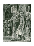 The Investiture of William II with the Ring, Sunday, Sept 26, 1087 Giclee Print by Richard Caton Woodville II