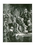 The Presentation of the Bible at the Inauguration of Oliver Cromwell as Lord Protector Giclee Print by Richard Caton II Woodville