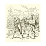 Combat Between the Horatii and Curiatii Giclee Print by John Leech