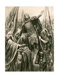 The Elevation of Edward the Elder at His Coronation at Kingston-On-Thames, Whitsunday, 901 Giclee Print by Richard Caton II Woodville