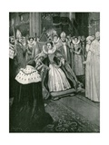 The Presentation of the Gloves by the Lord of the Manor of Worksop at the Coronation of Elizabeth Giclee Print by Amedee Forestier