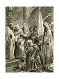 The Anointing of Edward the Martyr at His Coronation Giclee Print by Richard Caton II Woodville