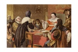 John Bunyan's Wife Pleading to Sir Matthew Hale for Her Husband's Release from Bedford Gaol Giclee Print by John Dawson Watson