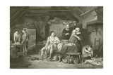 Alfred in the Neatherd's Cottage Giclee Print by David Wilkie