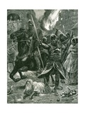The Result of the Recognition of William I, Christmas Day, 1066 Giclee Print by Richard Caton Woodville II