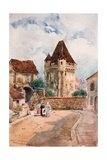 Porte Du Croux, Nevers Giclee Print by Herbert Menzies Marshall