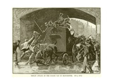 Fenian Attack on the Police Van in Manchester Giclee Print