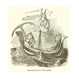 Unpleasant Position of King Harold Giclee Print by John Leech
