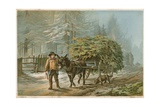 A Man Leading a Donkey Giclee Print by Edward Duncan
