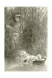 Moses in the Bulrushes Giclee Print by Hippolyte Delaroche