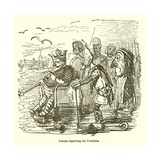 Canute Reproving His Courtiers Giclee Print by John Leech